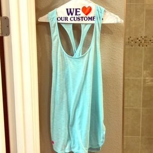 Luxletic Lilly Pulitzer Teal Cotton Tank Top XL
